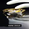 INSPIRE JEWELRY กำไลประดับเพชรสวิสรูปโบว์ สวยงาม ปราณีต งานจิวเวลลี่ ชุบทองแท้ 100%