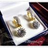 ต่างหูเพชร diamond cloning/gold plated