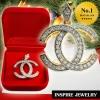 Inspire Jewelry, จี้เพชรสวิส งานอินเทรนแฟชั่นชั้นนำ ขนาด 3x2.5cm. สวยงาม เหมาะกับการแต่งกายทุกแบบ