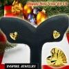 Inspire Jewelry ต่างหูรูปหัวใจตอกลาย size M หุ้มทองแท้ 100% 24K