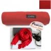 ผ้าพันคอแฟชั่นเกาหลีสีพื้น ZARA RED : สีแดง CK0143