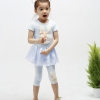 ชุดเสื้อ+กางเกง ลายกระต่ายน้อย 3 มิติ (ผ้ามันลื่น น่ารักค่ะ)