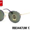Rayban Round Sunglasses RB3447 JM 172 50 Gold Blue Multi Lennon