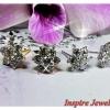ต่างหูเพชร diamond cloning/gold plated/white gold plated