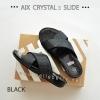 * NEW * FitFlop AIX Crystal Slide : Black : Size US 8 / EU 39