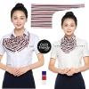 ผ้าพันคอสำเร็จรูป ผ้ายูนิฟอร์ม uniform ผ้าไหมซาติน ผ้าพันคอลายธงชาติ : L01