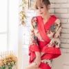 ชุดกิโมโนดอกไม้สีแดง