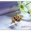 แหวนเพชรซีก gold plated 1microns