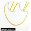 Inspire Jewelry สร้อยคอทอง น้ำหนัก 2 บาท งานทองไมครอน ชุบเศษทองคำแท้ ยาว 24 นิ้ว หนัก 27 กรัม