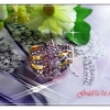 แหวนเพชรดอกไม้/gold plated 5microns/white gold plated