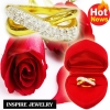Inspire Jewelry ,แหวนรูป infinity ฝังเพชรสวิส งาน Design ตัวเรือนหุ้มทองแท้ 100% 24K สวยหรู พร้อมกล่องกำมะหยี่สวยหรู สำหรับคนพิเศษ ใส่เอง เป็นของขวัญของฝาก วาเลนไทน์ วันเกิด ตรุษจีนฯลฯ