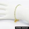 Inspire Jewelry ,สร้อยข้อมือเม็ดอิตาลี 2 กษัตริย์สลับเม็ดห้อยหัวใจ (ขนาดเม็ด 3 มิล) สวยหรู คงทน งานคุณภาพ พร้อมถุงกำมะหย่ี่