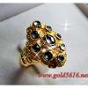 แหวนเพชรซีก gold plated 0.5microns