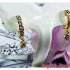 ต่างหูเพชร white gold plated / gold plated
