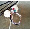 แหวนหางช้างหัวบัวแกะจากกระดูกช้าง