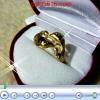 แหวนปลาโลมาหุ้มทองหนา 2microns