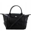 (พรีออเดอร์)Longchamp Grey Leather Le Pliage Cuir Handbag