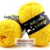 ไหมพรม Milk Cotton รหัสสี 24 สี Gold Yellow