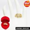 Inspire Jewelry ,แหวนใบมะกอกฝังพลอยนพเก้า พร้อมกล่องกำมะหยี่ สวยหรูสำหรับคนพิเศษ ใส่เอง เป็นของขวัญของฝากมงคล มีความหมาย วาเลนไทน์ วันเกิด ตรุษจีนฯลฯ