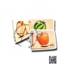 TY-3030 หนังสือไม้ชุดผลไม้ผ่าซีก
