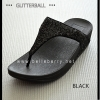 * NEW * FitFlop : GLITTERBALL : Black : Size US 7 / EU 38