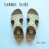 **พร้อมส่ง** FitFlop : CARMEL Slide : Rose Gold : Size US 8 / EU 39
