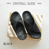 FitFlop CRYSTALL Slide : Black : Size US 5 / EU 36
