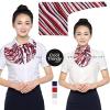 ผ้าพันคอสำเร็จรูป ผ้ายูนิฟอร์ม uniform ผ้าไหมซาติน : L230