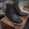 รองเท้าผู้ชาย | รองเท้าแฟชั่นชาย Dark Navy Boots หนังนูบัคแท้ กันน้ำ