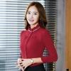 เสื้อผู้หญิงแขนยาว สีแดง ชุดทำงาน ชุดยูนิฟอร์ม สำหรับสาวออฟฟิต