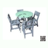 WHC-01-1 โต๊ะกลม Center พร้อมเก้าอี้ ระดับอนุบาล (1 ชุดประกอบด้วย โต๊ะสี 1 ตัว เก้าอี้ สีเทา 4 ตัว)