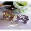 แหวนเพชรรูปโบว์ gold plated 5microns/white gold plated