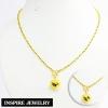 Inspire Jewelry สร้อยคอทองห้อยหัวใจตอกลาย น้ำหนัก 0.50 บาท งานทองไมครอน ชุบเศษทองคำแท้ ยาว 18 นิ้ว หนัก 7 กรัม
