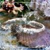 กำไลมังกรสองตัวเนื้อเงินกับหินแก้วขนเหล็ก