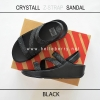 * NEW * FitFlop CRYSTALL Z-STRAP Sandal : Black : Size US 8 / EU 39