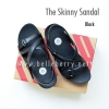* NEW * FitFlop The Skinny Sandal : Black : Size US 8 / EU 39