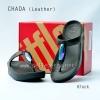 **พร้อมส่ง** รองเท้า FitFlop Chada (Leather) : Black : Size US 8 / EU 39