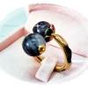 แหวนหางช้างหัวหินแก้วขนเหล็ก gold plated 5microns