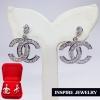 Inspire Jewelry ,ต่างหูฝังเพชรสวิสเกรด AAA+ หุ้มทองคำขาว สวยหรู งานแฟชั่นอินเทรนระดับแนวหน้า