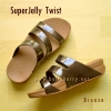 **พร้อมส่ง** FitFlop SUPERJELLY TWIST : Bronze : Size US 5 / EU 36