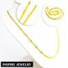 Inspire Jewelry สร้อยคอต่อลาย น้ำหนัก 1 บาท งานทองไมครอน ชุบเศษทองคำแท้ ยาว 24 นิ้ว หนัก 18 กรัม