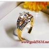 แหวนเพชร gold plated 5microns
