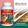 Trunature-TRIPLE ENERGY=GINSENG 300mg 300เม็ด 300วัน โสมสกัด3ชนิด เพิ่มประสิทธิภาพร่างกาย+สมอง (exp.07/2020) หมด