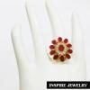 Inspire Jewelry ,แหวนพลอยทับทิมชาตั้ม งานปราณีต ตัวเรือน หุ้มทองแท้ 100% 24K สวยหรู พร้อมถุงกำมะหยี่ สำหรับการแต่งกายชุดไทย ชุดประจำชาติ บุพเพสันนิวาส การะเกตุ ชุดที่ต้องการความหรูหรา ดูมีเสน่ห์ แสดงความเป็นไทย งานอนุรักษ์ไทย