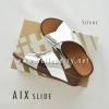 * NEW * FitFlop AIX Slide : Silver : Size US 5 / EU 36