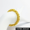 Inspire Jewelry brand Gold bracelet 23 grams gold plated gold, plated gold, 19x0.7cm