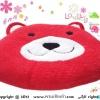 เบาะรองนั่งแฟนซี-หมี-สีแดง