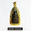 Inspire Jewelry ,จี้พระรอด เนื้อปิดทองคำเปลว100% ขนาด 2.5x1.5cm. เลี่ยมกรอบทอง 24K ลงยาคุณภาพ พระนิรันตราย เสริมดวง เพิ่มทรัพย์ เดินทางไปไหน ปลอดภัยหายห่วง