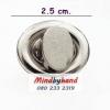 ตัวล็อกฝากระเป๋า แบบบิดรูปไข่ขนาดเล็ก สีเงิน 2.5 ซม.