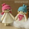 แพทเทิร์นตุ๊กตาถักเด็กน้อย Kiki กับ Lala (Little Twin Stars)